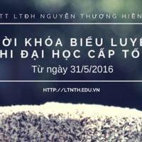 TKB Khóa Luyện Thi Đại Học Cấp Tốc - THPT QG Từ 31/5/2016