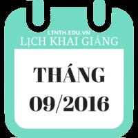 Lịch Khai Giảng Các Khóa Học Tháng 09 năm 2016