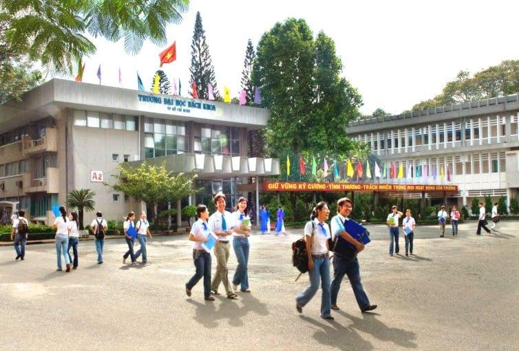 Khuông viên Trường đại học Bách Khoa Tp HCM