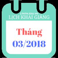 Lịch khai giảng các khóa học, khóa luyện thi đại học 2018