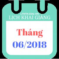 Lịch khai giảng khóa học hè tháng 6-2018