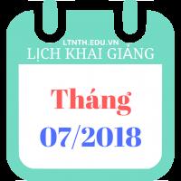 Lịch khai giảng khóa học tháng 07/2018 - Học thêm hè 2018 - Banner