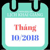 Lịch khai giảng khóa học tháng 10/2018 - Học thêm năm học 2018-2019