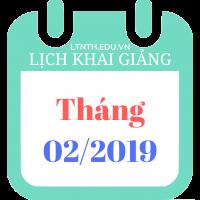 Lịch khai giảng các khóa học tháng 2/2019, sau tết nguyên đán 2019