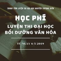 Học phí các lớp Luyện Thi Đại Học Cấp Tốc & Bồi Dưỡng Văn Hóa từ 6/5/2019 Banner