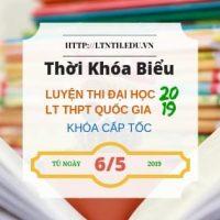 TKB Luyện Thi Đại Học Cấp Tốc - THPT Quốc Gia Cấp Tốc 2019 KG Từ Ngày 6/5 - Banner