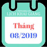 Lịch khai giảng các khóa học tháng 8/2019 của Trung tâm luyện thi đại học Nguyễn Thượng Hiền
