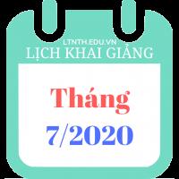 Lịch khai giảng khóa học tháng 07/2020, Luyện thi đại học 2020 (Banner)