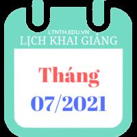Lịch khai giảng khóa học tháng 7/2021, Luyện thi đại học 2022 (Hình)